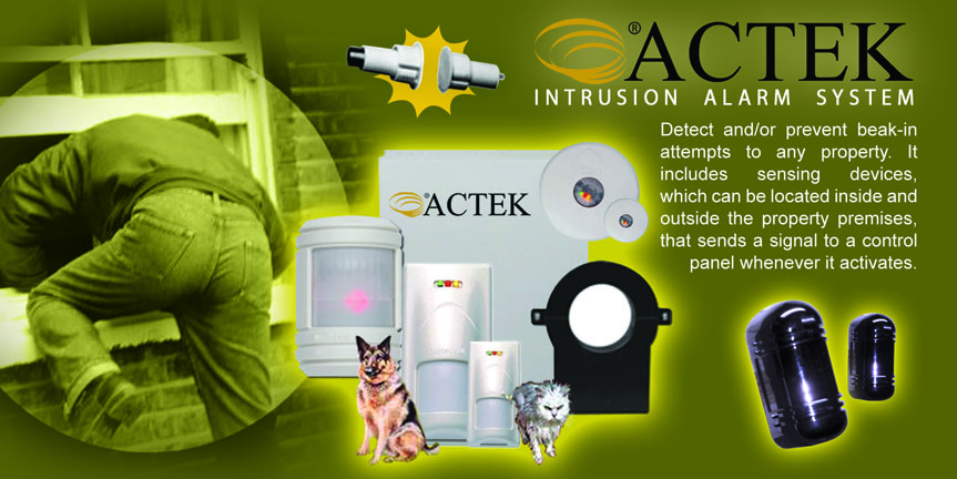 Actek Intrusion Alarm System