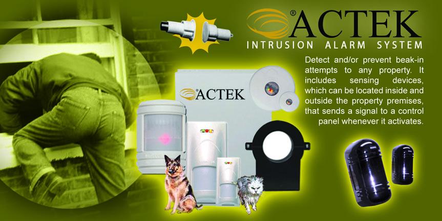 Actek Intrusion Alarm System